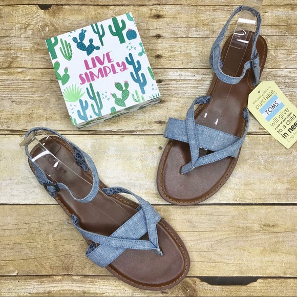 f1ed65f4ffa Toms Lexie Chambray Sandals